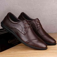 2021 spring new men's top layer cowhide fashion Plaid formal leather light business casual shoes