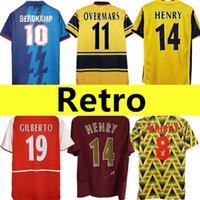 02 05 HENRY BERGKAMP V. PERSIE Mens Retro Soccer Jerseys 94 97 VIEIRA MERSON ADAMS Home Away 3rd Football Shirt Short men Sleeve Uniforms