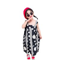 Girls Jumpsuit Summer Dots Baby Trousers Braces Suspenders Kids Pants One Piece Clothing Romper Children Clothes Beach Loose B6325