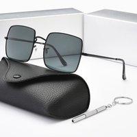 2021 Fashion UV400 Gafas de sol Square Metal Dorado Marco de oro Gafas de monte de alta calidad Espejo de hombres y mujeres con caja 1927 Gafas