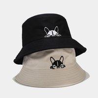 캐주얼 태양 모자 만화 귀여운 양동이 모자 남자 여자 강아지 밥 힙합 모자 여름 파나마 블랙 낚시 모자