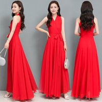 Maxi Dresses for Women Plus Size Chiffon V Neck Big Swing Wedding Party Mother Beach Holiday Long Dress 257