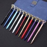 كبير الماس القلم الراين كريستال معدلات الحبر المعدنية حبر أسود للمدرسة مكتب 23 الألوان