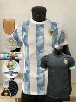 2021 2022 Version du joueur d'Argentine Jerseys de football Kun Aguero Dybala di Maria Messi l.martinez la maison 21 22 Shirt de football
