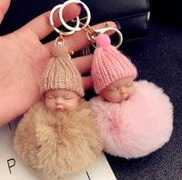 Araba Uyku Zinciri Bebek Bebek Kürk Renkli Ponpon Anahtarlık Topu Tavşan Sevimli Anahtar Anahtarlık Tutucu Çanta Kolye Charm Aksesuarları En İyi Gi Vlftu