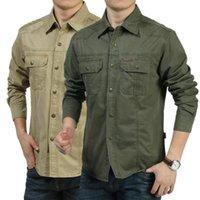 Chemise de la robe décontractée de Zhan di Ji Pu d'été 2021 Taille M-6XL Militaires Militaires Manches longues100% Coton Camisa Masculinina Social Masculina Hommes Shirts