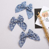 Аксессуары для волос Корейский цветочные ткани лук утка клип мода свежие простые девушки шпильки для детей барьерные дети