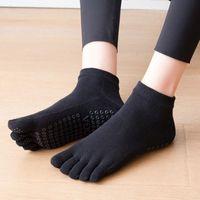 Sports Socks 2021 Breathable Cotton Yoga Women Five Toe Pilates Anti-Slip Quick-Dry Ladies Ballet Dance Elasticity Fitness
