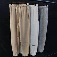Pantalones de los hombres sentir de Dios niebla Essentials Doble línea Reflective Drawcord High Street Leggings Pantalones para hombres