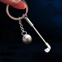 크리 에이 티브 골프 키 체인 티타늄 합금 소재 키 링 스포츠 애호가 최고의 선택 가방 자동차 광고 펜던트