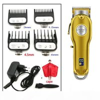 New cortapelos Cuchillo de barba Kemei 1986 All-metal Barber Hair Clipper Electric Cordless LCD Hair Trimmer Gold Silver Hair Cutting Machin