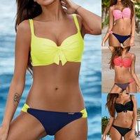 Women's Swimwear Women Bandeau Bandage Bikini Set Push-Up Brazilian Beachwear Swimsuit 2021 Thong Maillot De Bain Femme