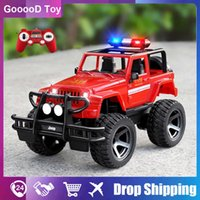 1 12 Scale Big RC Jeep on radio control Police truck Fire Rescue Truck 4WD Electric rc drift buggy cars toys for child kids boy H1013