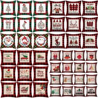 47 style Christmas lattice PillowCase linen 45*45cm pillows covers home sofa cushion cover Home-Textiles Christmas decorations T9I001558