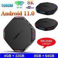 T95 Artı Android 11.0 TV Kutusu RK3566 4 GB / 8 GB 32 GB 64 GB 8K Set üst Kutuları V H96 Max