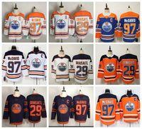 Edmonton للرجالزيتي الهوكي الفانيلة 29 ليون درايسيتل جيرسي 97 كونور ماجدافيد 93 ريان نوجيند هوبكنز المتعصبون العلامة التجارية البرتقالية الانفصالية