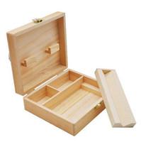 Wooden Stash Boxes Smoke tool set Cigarette Tray Natural Handmade Wood Tobacco And Herbal Storage Box For Smoking Pipe GWB7096