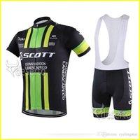 Scott Cycling Jersey Kurzarm Lätzchen Hosen Sets Schnell trocken Atmungsaktiv Gel Pad Pro Team Männer Radfahren Kleidung Größe 32944