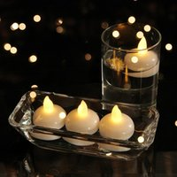 Su geçirmez Flaş Mum Tealight Gece Işıkları Yüzer Flickering LED Çay Işık Pil Partili Parti Düğün Balık Tankı Havuz Dekorasyon için