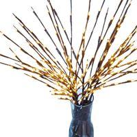 5 قطعة / المجموعة أدى الصفصاف برانس سلسلة ضوء شجرة الجدة ليلة مع 20 لمبات الديكور وارن الأبيض للمنزل حزب المواعدة