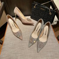 Dress Shoes Pointed High Heels Women Stiletto 2021 Wedding Bride Bridesmaid Small Size 32-43 For