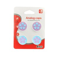 A Set Pink Thumb Grips Joystick grip Caps Cover Silicone Pro...
