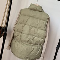 Autumn Winter Womens Vest 2021 Simple Lace Coat Women Casual Loose Cotton Waistcoat Gilet Female Double Breasted