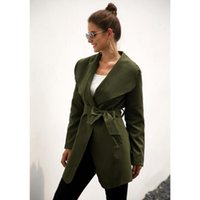 Womens Autumn Winter Casual Loose Trench Coat With Sashes Oversize Adjustable Belt Long Section Overcoats Windbreaker Outwear