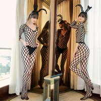 Sexy lingerie full body large mesh hole sleeve one-piece net stockings net clothes silk stockings open crotch