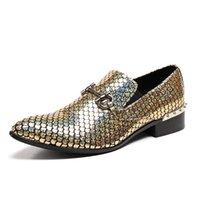 Fashion Men's Business Shoes di alta Qualità Genuine Pelle Party Designer di lusso Designer appuntito Mocassini Elegante PR Dress