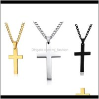 & Pendants Jewelrymens Womens Cross Pendant Necklaces Stainless Steel Link Chain Necklace Statement Charm Gifts Fashion Aessories Drop Delive