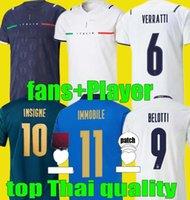 Jogador Fans Versão 2021 2022 Italia Home Away Jersey Italia Goleiro 21 22 Sensi Belotti Jorginho Verratti Pellegrini Shaarawy Insigne Futebol Camisas