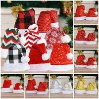 Party Supplies 17 style Christmas Hat Adult Kids Snowflakes Xmas-Hats Xmas Decoration cap children Christmas-caps T9I001436