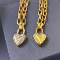 Novos produtos colares banhados a ouro e pulseira para mulher pulseiras de coração moda charme colar jóias