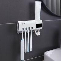 فرشاة الأسنان المطهر القابلة لإعادة الشحن الطاقة الشمسية الأشعة فوق البنفسجية تطهير الحائط حامل السيارات اختيار