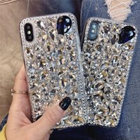 Luxury Big Rhinestone Cases For iPhone 11 12 Pro Max XR XS 7 8 6 PLUS Bling Glitter Diamond Phone Cover