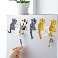 마그네틱 만화 고양이 홈 바이어스 냉장고 자석 장식 기념품 자석 냉장고 후크