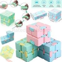 Сенсорные игрушки Fidget Magic Infiniti Cube Твердые бесконечные кубики SEND Средства стресса СДВОБИРЕНИЯ ADHD Infinity Flip Puzzle Тревога для беспокойства Палец бесконечный доска H41KCVY