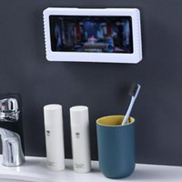 Storage Boxes & Bins Waterproof Mobile Phone Box For Bathroom Without Punching Wall Mount Shower Holder