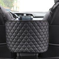 Car Organizer Seat Storage Bag Multifunction Box Interior Stowing Tidying Auto PU Leather