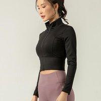LULU Leganing стиль осенью и зимняя спортивная стойка воротник куртка женская стройная пригонка упругая Лулу