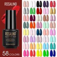 Rosalind Gel Lámpara de esmalte de uñas All For Nails Art Manicure With Matt Base Top Coat Semi permanente Gellak Nail Gel Polish Barnices