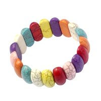 Gioielli fatti a mano all'ingrosso colorato turchese a mano braccialetto a forma di cuore braccialetto donna americana latinoamericana gioielli arcobaleno arcobaleno