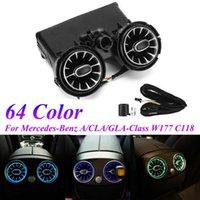 Luci interiorexternali 64 Color Car Bracciolo posteriore LED Turbine Air sfiato Ambient Kit luce Ambient For - C-Classe GLC W205 x253 2021-2021
