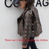 Kids Fashion Jackets Coats Boys Girls Baby Outwear Printed Jacket Casual Pocket Zipper Autumn Winter Coat Clothing Formal 90-150