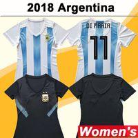 2018 argentinien frauen fußball jerseys nationalmannschaft di maria hause fußball shirts dybala aguero dame kurzarm Uniformen