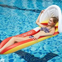 Foldable Reclining Chair Floating Bed With Shade Sleeping Lo...