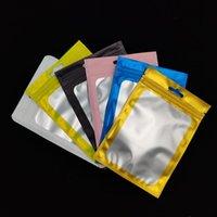 Busche di gioielli, Borse 3 Dimensioni 100 PZ Blocco Zip opaco Imballaggio di plastica Imballaggio Ziplock Sacchetto di alluminio Foil Hologram Pouch Acqua Zipper con cerniera