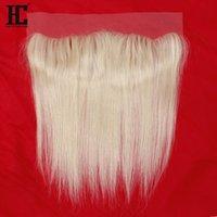 9A Grade Good Quality 613 Blonde Human Hair Lace Closure Frontal Straight Peruvian Hair Silky Straight Hair Extnsions Brazilian Virgin