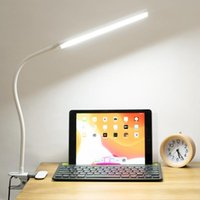 Table Lamps LED Folding Clamp Desk Lamp Eye Protection Rechargeable Clip On Light For Bed Reading Working And Computers